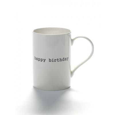 Becher Happy Birthday | Weiß