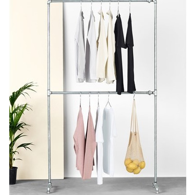 Free-standing Clothes Rack Capone I Silver