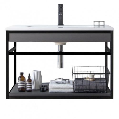 Bathroom Cabinet Loom-B 80 | Dark Grey