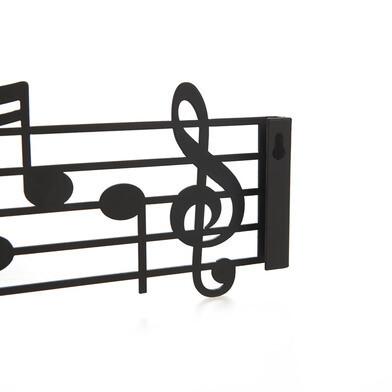Wandkleiderbügel Musik | Schwarz