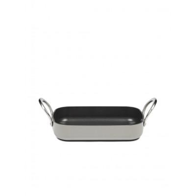 Pure Roaster Non-Stick Forged Alu L30 cm B20 cm | Stone Grey