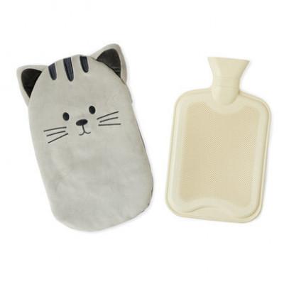 Wärmflasche Kitty   Grau