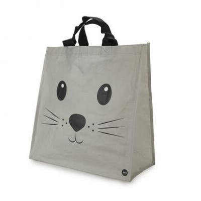 Einkaufstasche Kitty | Grau
