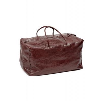 Umhängetasche XL | Leder | Rot