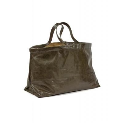 Shopper XL | Leder | Grün