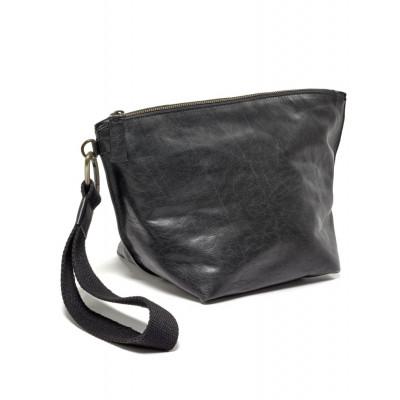 Clutch Bag | Leder | Schwarz