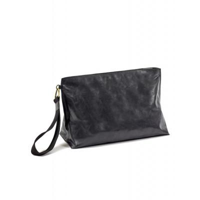 Clutch Bag XL | Leder | Schwarz