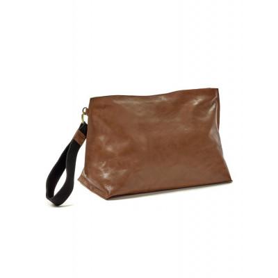 Clutch Bag XL | Leder | Cognac
