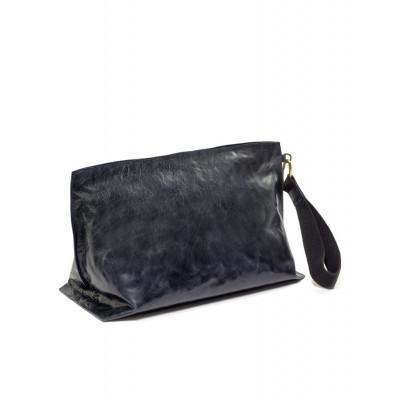 Clutch Bag XL | Leder | Blau