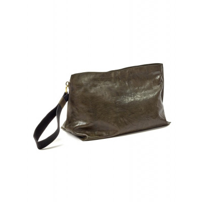 Clutch Bag XL | Leder | Grün