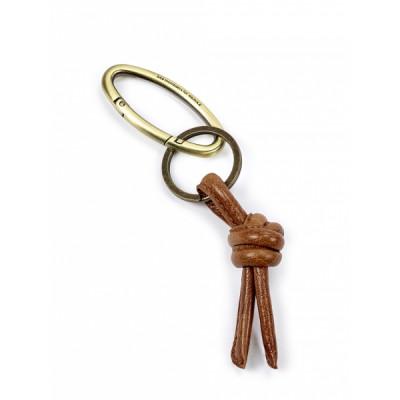 Schlüsselanhänger | Leder | Cognac