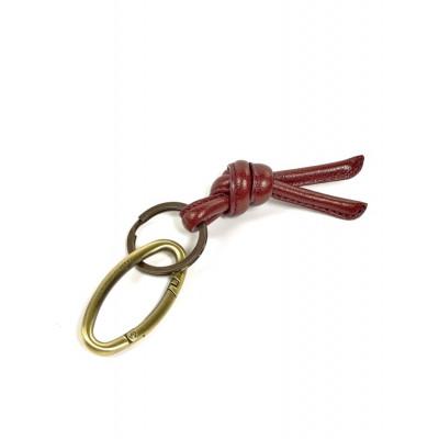Schlüsselanhänger | Leder | Rot