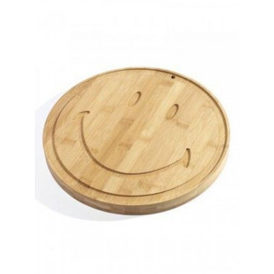 Plate Large Smiley | Bamboo DISCONTINUED