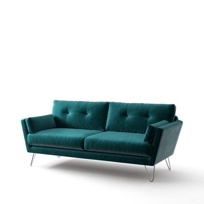 3-Sitzer-Sofa Tido   Petrolblau