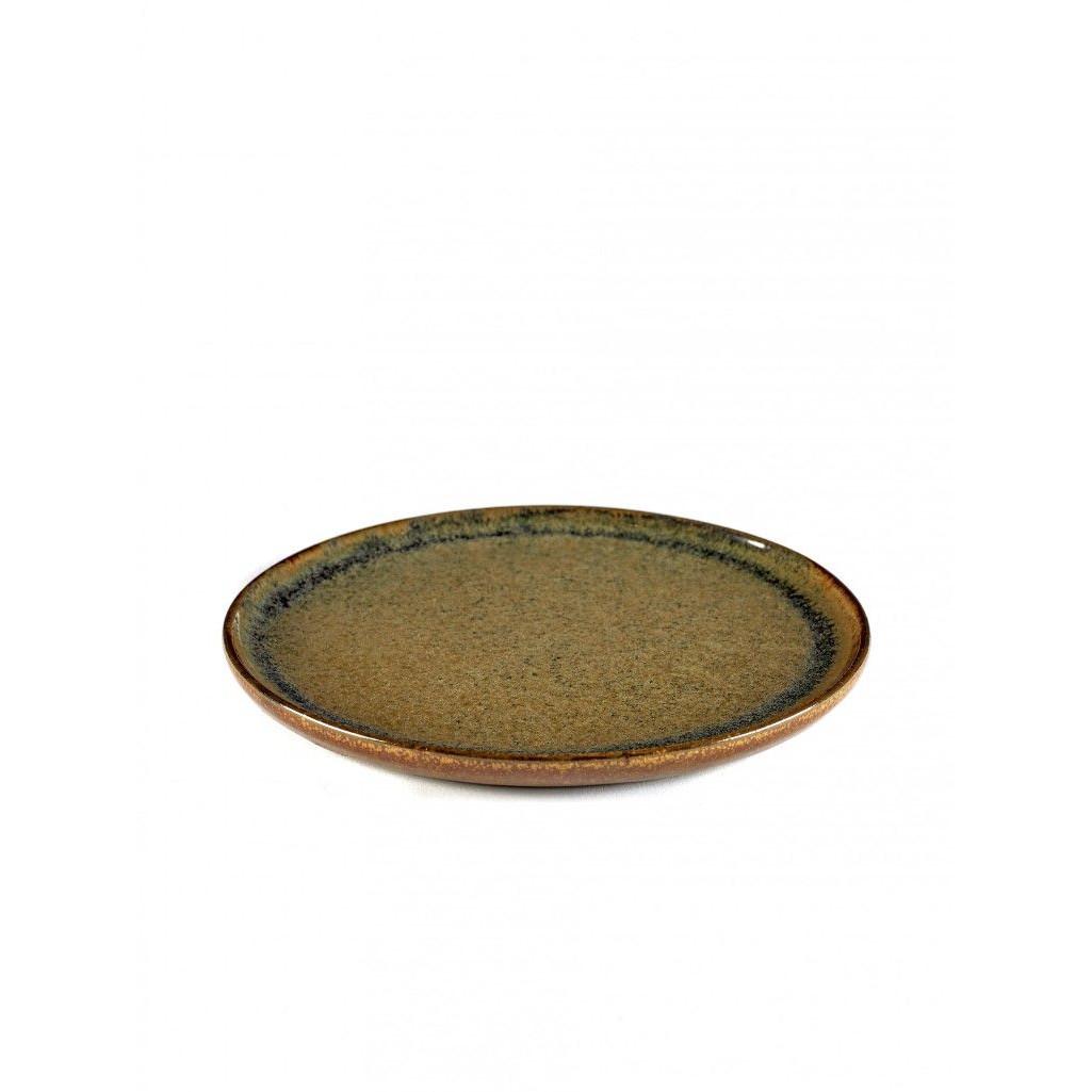 Dessertteller Surface Indigrau