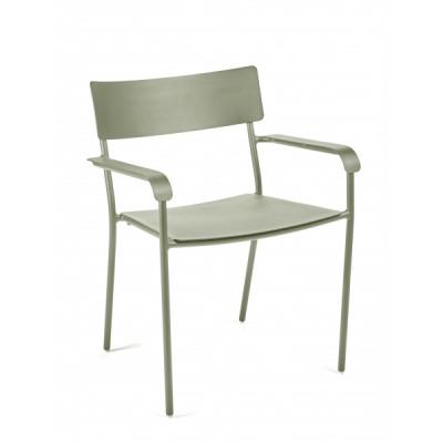 Stuhl mit Armlehnen August | Eukalyptusgrün
