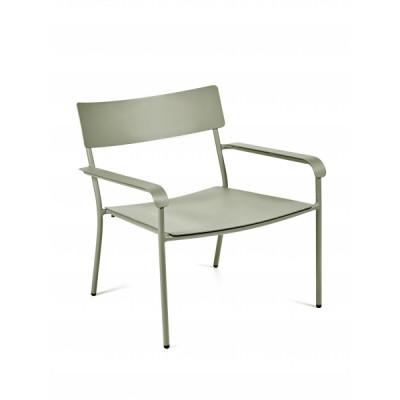 Lounge Stuhl mit Armlehnen August | Eukalyptusgrün