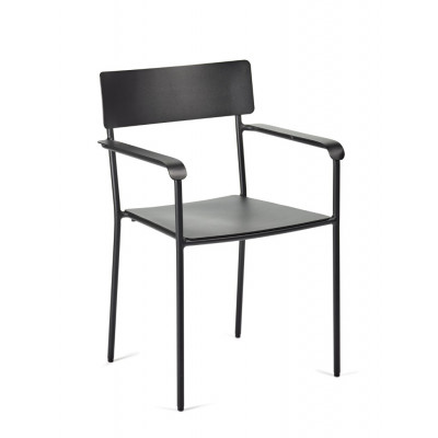 Outdoor Chair with Armrests August | Black