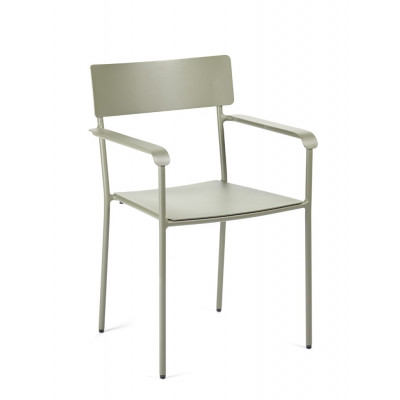 Outdoor Chair with Armrests August | Eucalyptus Green
