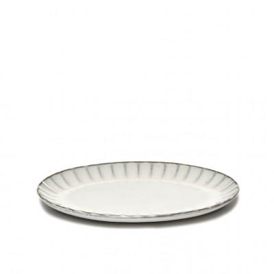 Teller Oval Inku | Weiß