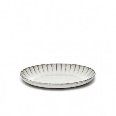 Servierschüssel Oval Inku | Weiß