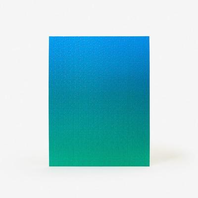 Puzzle Gradient 500 Teile | Blau & Grün