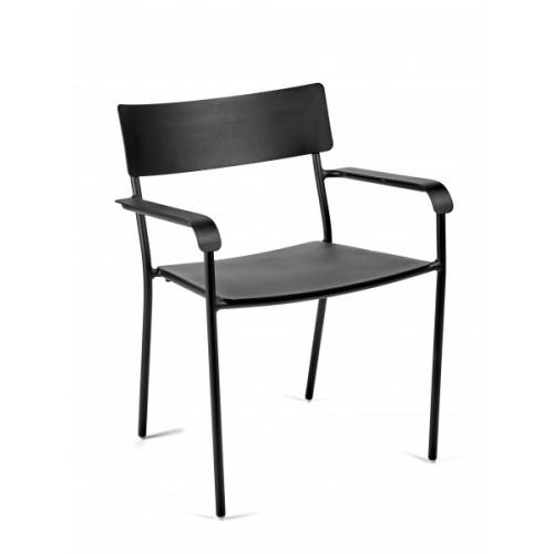 Chaise avec Accoudoirs August | Noir