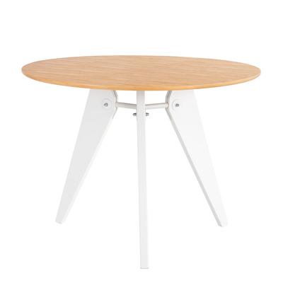 Runder Tisch Rena 100 cm | Eiche-Weiß