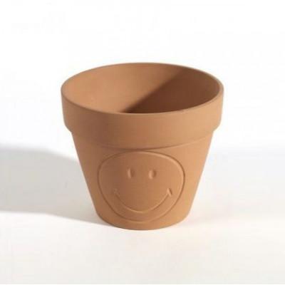 Blumentopf XS Smiley | Terrakotta