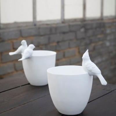 Deko-Vögel für Vase oder Teelicht | 4er-Set