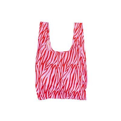 Wiederverwendbare Tasche Zebra   Rot und Weiß