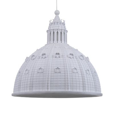 Ceiling Lamp Cupolone  Small | White Resin