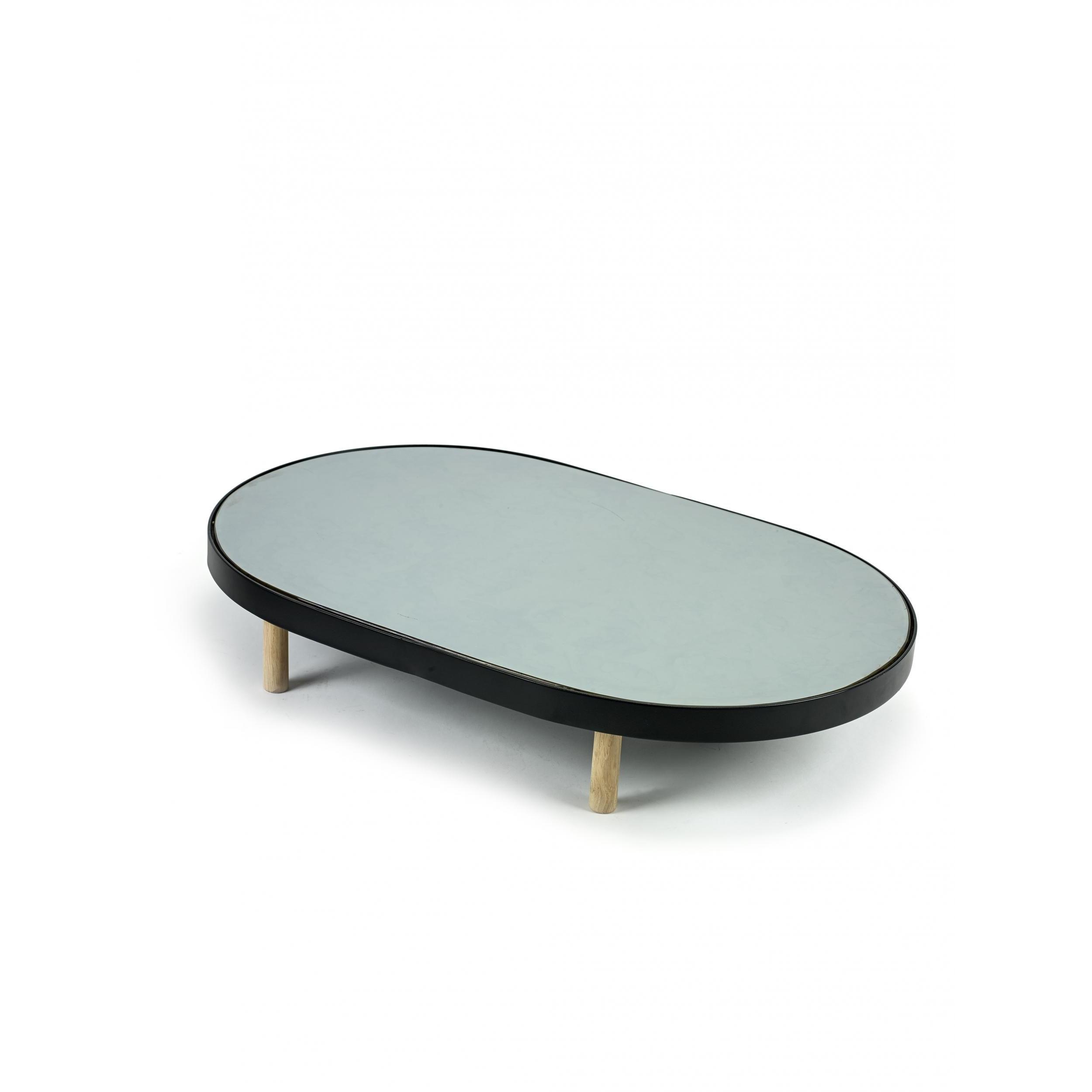 Studio Simple Mirror Tray Oval 67 cm | Schwarz
