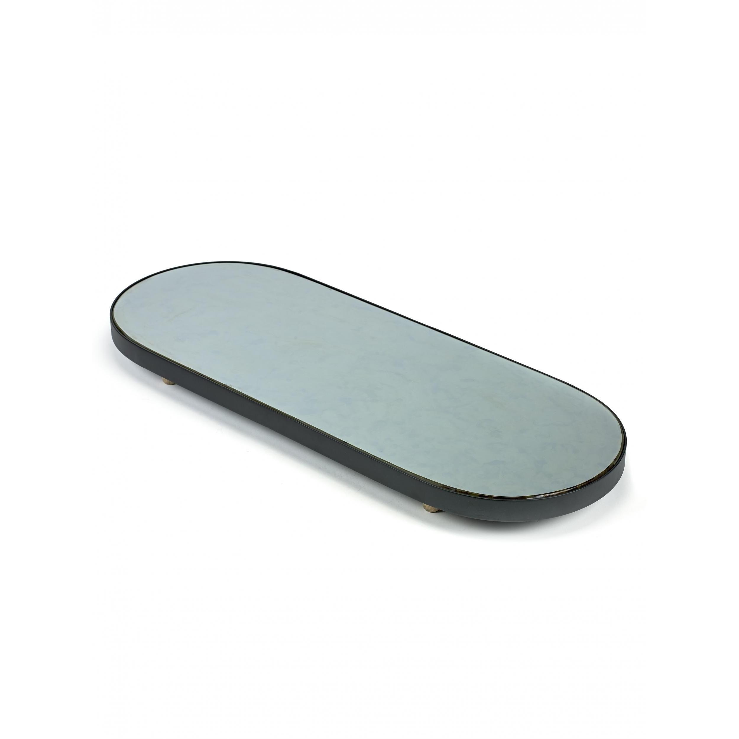 Studio Simple Mirror Tray Oval 80 cm   Schwarz