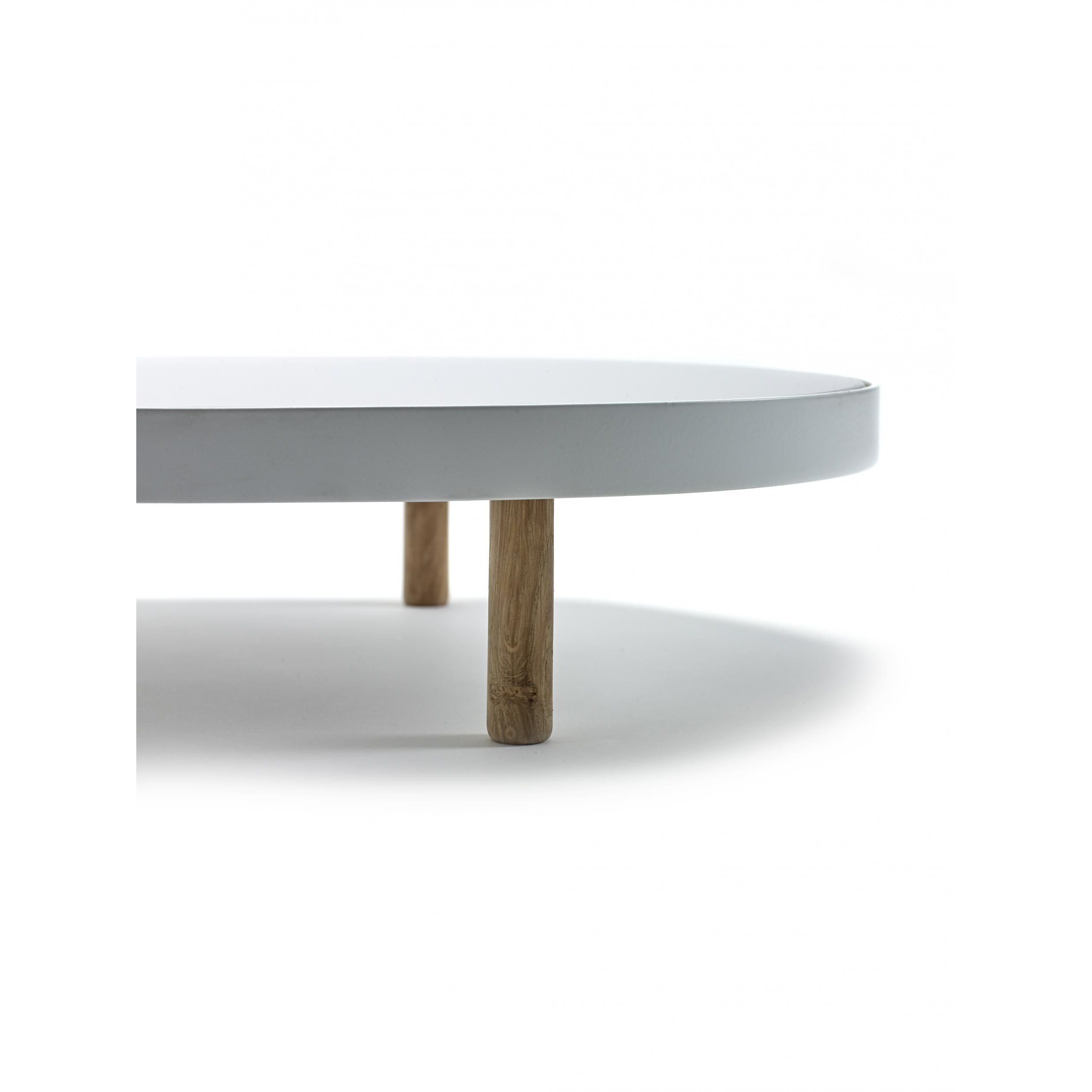 Studio Simple Mirror Tablett Oval 80 cm | Weiß