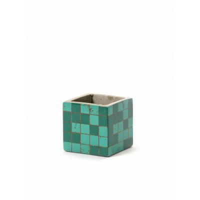 Pflanztopf Marie Mosaic 7,5 cm | Grün