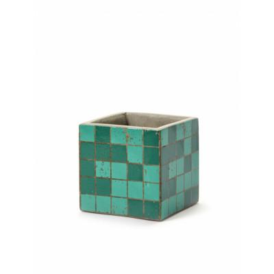 Pflanztopf Marie Mosaic 11 cm | Grün