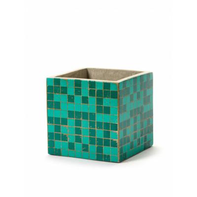 Pflanztopf Marie Mosaic 15 cm | Grün