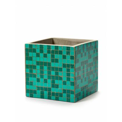 Pflanztopf Marie Mosaic 17 cm | Grün