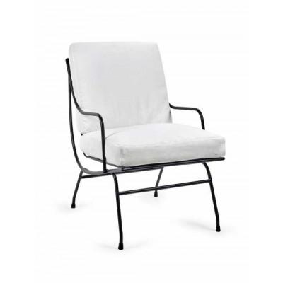 1 Sitzer Sofa Stresa + Weißes Kissen