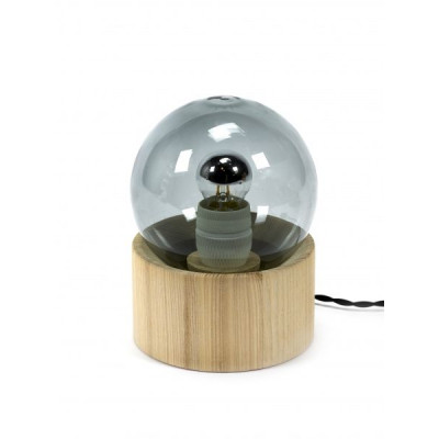 Studio Simple Vollmondlampe   Grau geräuchert