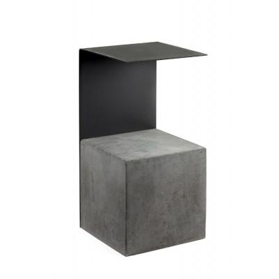 Beistelltisch Beton & Stahl | Schwarz