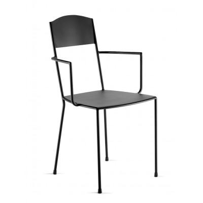 Stuhl Adriana inkl. Armlehne 84 cm   Schwarz Matt