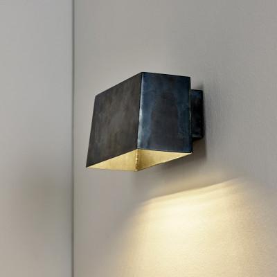Wandleuchte Sofisticato Nr. 36 H 9.5 cm | Blaustahl