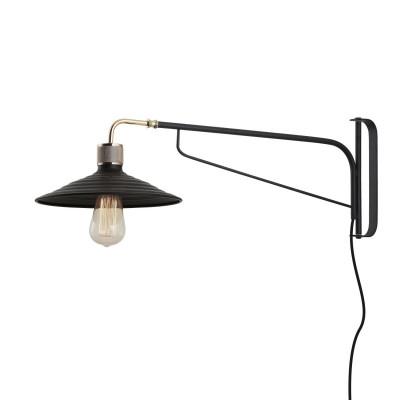 Verstelbare Wandlampe   Schwarz