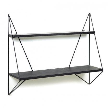 Butterfly Shelf | Black Wood