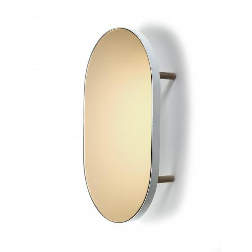 Studio Simple Mirror Tablett Oval 67 cm   Weiß