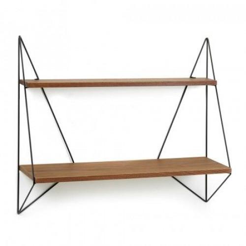 Butterfly Shelf | Single Brown Wood