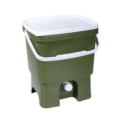 Küchenkompost Bokashi Organko 1 mit 1 Kg Bokashi Bran | Dunkelgrün