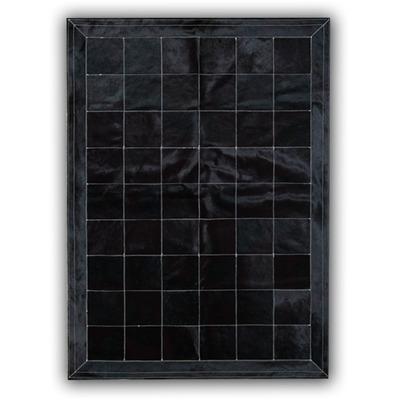 Lederteppich   Schwarz